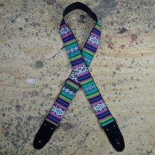 Purple Rasta Rag Guitar Strap