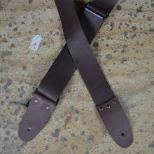 "2"" Brown Soft Leather Slide Adjustable Guitar Strap"