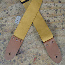 "2"" Tan Soft Leather Slide Adjustable Guitar Strap"