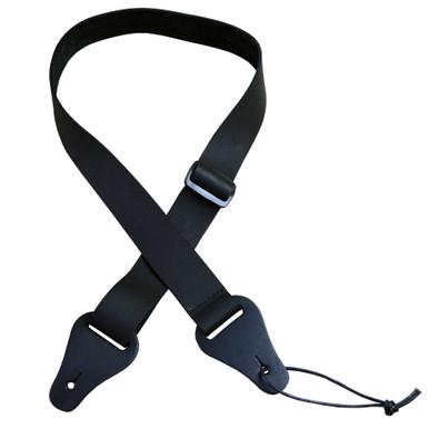 Black 35mm Slide Adjustable Leather Ukulele Strap