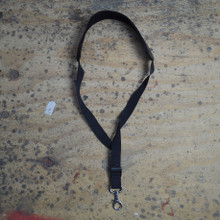 Black Leather Saxophone Strap