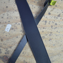 "2.5"" Sueded Black Soft Leather Guitar Strap"