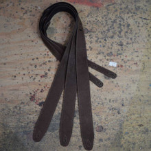 "2.5"" Sueded Dark Brown Relic Soft Leather Guitar Strap"