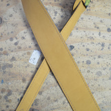 "2.5"" Sueded Tan Soft Leather Guitar Strap"
