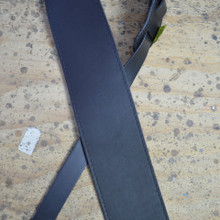 "3.5"" Sueded Black Soft Leather Guitar Strap"