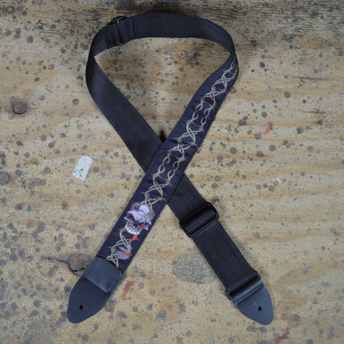 Barb Wire Tattoo Rag Guitar Strap