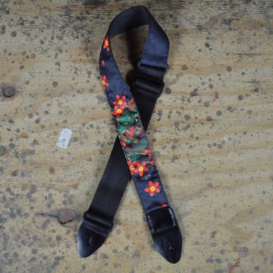 Dragon & Flowers Tattoo Rag Guitar Strap