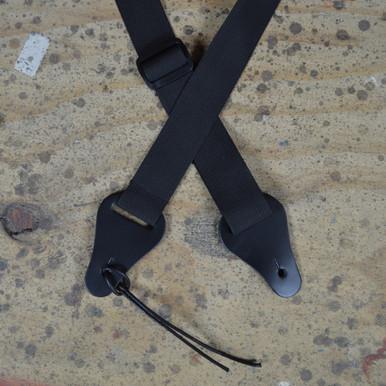 Black Webbing Ukulele Strap