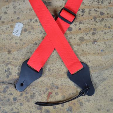 Red Webbing Ukulele Strap