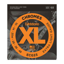 D'Addario Chromes Electric Guitar Flat wound Strings 10-48