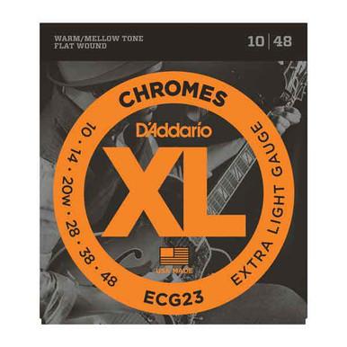 D'Addario Chromes Electric Guitar Flat wound Strings 10-48