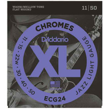 D'Addario Chromes Electric Guitar Flat wound Strings 11-50