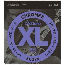 D'Addario Chromes Electric Guitar Flat wound Strings 11-50