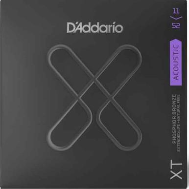 D'Addario XT Phosphor Bronze Acoustic Guitar Strings XTAPB1152 Custom Light (11-52)