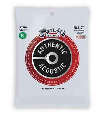 MARTIN AUTHENTIC TREATED, CUSTOM LIGHT, 10-47 ACOUSTIC GUITAR STRINGS