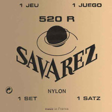SAVAREZ 520R CLASSICAL GUITAR STRINGS NYLON - RED CARD HIGH TENSION