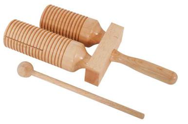 Wooden Toneblock Two Tones with guiro