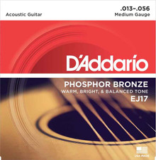 D'Addario Phosphor Bronze Acoustic Guitar Strings Medium 13-56