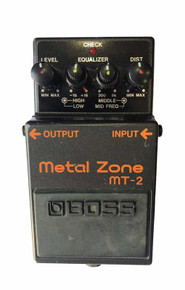Boss MT2 Metalzone Distortion guitar effect pedal.