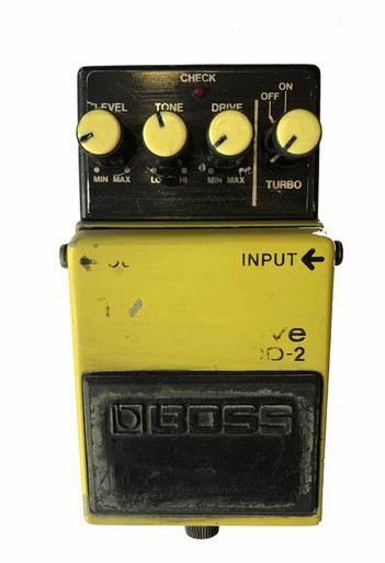 Boss OD2 Turbo Overdrive guitar effect pedal Rough Condition