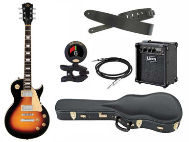 SX Pro Les Paul Electric guitar package with Hardcase