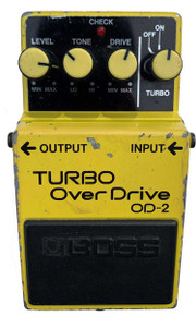 BOSS OD-2 Turbo Overdrive Made in Japan 1986
