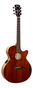 Cort SFX-Myrtlewood Acoustic Electric Guitar Brown Gloss
