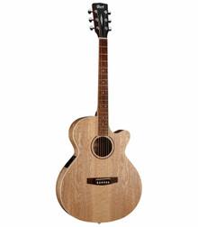 Cort SFX-AB Open Pore Natural Ash Burl Acoustic Electric Guitar