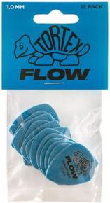 Dunlop Tortex Flow Standard Guitar Picks Blue 1.00mm 12 Pack