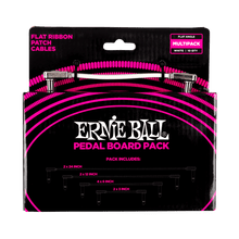 Ernie Ball White Flat Ribbon Patch Cables Pedalboard Multi-Pack