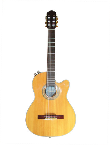 Canora Solid Body electric Nylon String Guitar