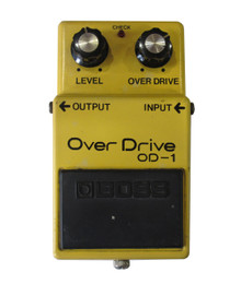 Boss OD-1 Overdrive Pedal Long Dash silver screw Made in Japan
