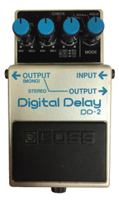Boss DD2 Digital Delay Effect Pedal Blue Label Made in Japan 1985