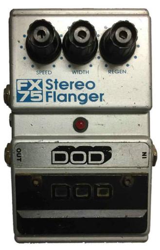 DOD FX75 Stereo Flanger Guitar Effects Pedal (DODFX75)