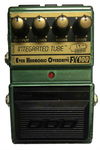 DOD FX100 Integrated Tube Even Harmonic Overdrive Guitar Effects Pedal (DODFX100)