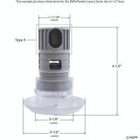 Spa Barrel Jet, Directional, High Flow, Scalloped Face, Black 1(3)