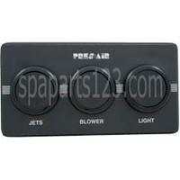 Spa 3-Button Panel Kit Black (Air)