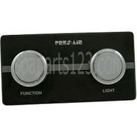 Spa 2-Button Panel Kit Black/Chrome (Air)