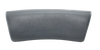 S01894SIL Hawkeye Spa Pillow - Silver Pillow, Large Curve, Lounge, 2 pins, front view