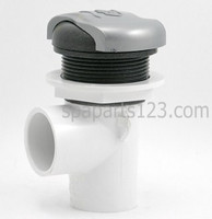 "PLU21300470 Cal Spa DIVERTER VALVE - 1"" SILVER HANDLE W/DARK GREY CAP"