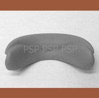L.A. Spas Pillow, Fin, Collar, Neck, Gray