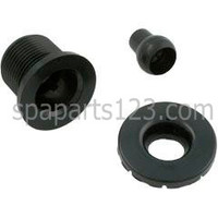 Flange Nozzle Assy, Euro Spa Jet, White-Grey-Black