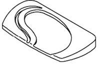 9800-911 Sundance® Spas Filter Lid Silver, 2000+ Sundance Portofino Caprio