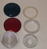 8018000/5040-016 Jacuzzi® Spa Light Housing Assembly, Lens, Red & Blue Lens Cover, 2001 & Previous