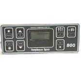 6600-211 SUNDANCE® SPAS TOPSIDE CONTROLS 800 SERIES 1 PUMP 1991-1993