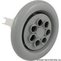 "5"" Spa Jet. Face Cyclone Twin Spin 7 Hole, Scalloped Face Gray-White"