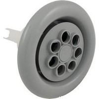 "5"" Face Cyclone Spa Jet Twin Spin 7 Hole, Scalloped Face Gray-White"