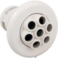 "3 3/8"" Smooth Poly Spa Jet Massage 7 Nozzles White"