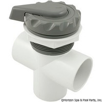 "Waterway 2"" Scalloped Top Access Div Valve, Black-Grey-White"