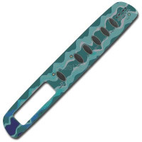 01560-252, D1 Spas Topside Inlay (Teal) March '98 to Mid '99, 6 Button